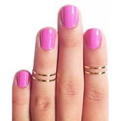 Mujer Cobre - Moda Dorado Plata anillo Para Diario