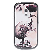 Skull Pattern Funda flor creciente dura para Samsung Galaxy S3 I8190 Mini