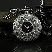 Hombre Reloj de Bolsillo Cuarzo Aleación Banda Vintage Negro