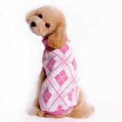 Perro Suéteres Ropa para Perro Ajedrez Azul Rosa Disfraz Para mascotas