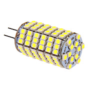 400 lm G4 LED-kornpærer T 118 LED perler SMD 5050 Kjølig hvit 12 V