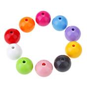 Manera de los granos de la forma redonda multicolor Acrílicos DIY 10pcs