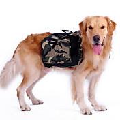 Perro mochila Ropa para Perro camuflaje Verde Nailon Disfraz Para mascotas Hombre Mujer Deportes