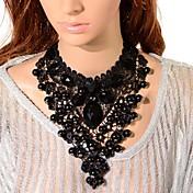 Mujer Cristal Collares Babero Gargantillas / Collares con colgantes / Collares de cadena - Torre damas, Gótico Negro Gargantillas Joyas 1pc Para Fiesta