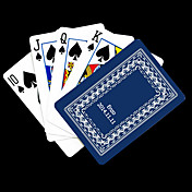 포커 게임 카드 개인화 된 선물 파란 포도 나무 패턴