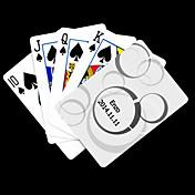 포커 게임 카드 개인화 된 선물 화이트 도트 패턴