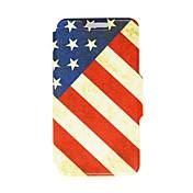 아이폰 5C를위한 대를 가진 킨 향수 미국의 패턴 PU 가죽 가득 차있는 몸 케이스