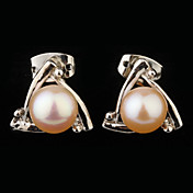 regalo para cadena de la vendimia madre con la forma redonda de sistemas de la joyería de la perla (blanco, rosa)