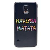 la cubierta del caso duro del patrón de la historieta para el i9600 Samsung Galaxy s5