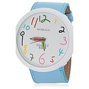 Mujer Reloj de Pulsera Reloj Casual PU Banda Encanto / Moda Azul / Naranja / Marrón / Un año / SSUO 377