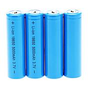 18650 batteri Oppladbart Lithium-ion Batteri 5000.0 mAh 4stk Oppladbar til Camping/Vandring/Grotte Udforskning
