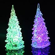 1pc árbol de Navidad Luz de noche LED Baterías alimentadas Impermeable / RGB