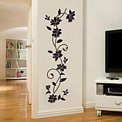 Romance De moda Botánico Pegatinas de pared Calcomanías de Aviones para Pared Calcomanías Decorativas de Pared, Vinilo Decoración hogareña