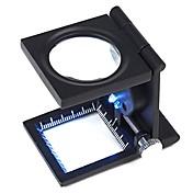 ZW-9005A Portable Folding 10X Fabric Kontroll Forstørrer
