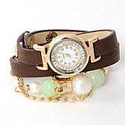 atrevería u occidental del estilo con cuentas populares de reloj ajustable