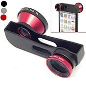 Cambio rápido 3 en 1 lente Gran Angular, Macro y 180 del ojo de pescados de la lente del kit para el iPhone 5/5 (color surtidos)