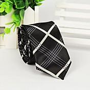 blanco y negro cruzado oblicuo de impresión de la raya de la corbata de los hombres de moda