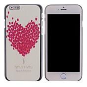 Para Funda iPhone 6 / Funda iPhone 6 Plus Diseños Funda Cubierta Trasera Funda Corazón Dura PolicarbonatoiPhone 6s Plus/6 Plus / iPhone