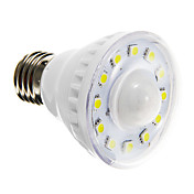 2W 85-150 lm E26/E27 LED-spotpærer A60(A19) 12 leds SMD 5050 Sensor Varm hvit Kjølig hvit AC 220-240V