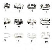 Toe Ring / Håndledd Ring Blomst Unikt design, Vintage, Europeisk Dame 10 / 11 / 12 Kroppsmykker Til Fest / Daglig / Avslappet