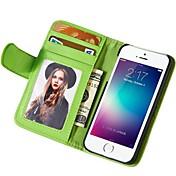 부드러운 터치 패턴 PU 가죽 지갑 아이폰 6S에 대한 커버 플러스 / 6 플러스 모듬 된 색상