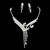 Mujer Cristal Legierung Boda Fiesta Ocasión especial Aniversario Cumpleaños Pedida Regalo Joyería de disfraz