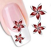 1pcs Etiqueta de transferencia de agua Pegatinas de uñas 3D Plantilla de estampado de uñas Diario Flor Moda Alta calidad