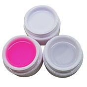 3pcs blanco transparente rosa 14ml del color del arte del clavo gel ultravioleta