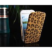 Para Funda Samsung Galaxy Flip / Diseños Funda Cuerpo Entero Funda Estampado Leopardo Cuero Sintético Samsung S3
