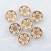 patrón de flores del libro de recuerdos Scraft coser botones de concha de coco bricolaje (10 piezas)