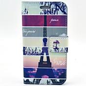 Para Funda Samsung Galaxy Soporte de Coche / con Soporte / Flip / Diseños Funda Cuerpo Entero Funda Torre Eiffel Cuero Sintético Samsung