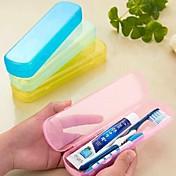 Protector/Envase de Viaje para Cepillo de Dientes Duradero Portable para Aseo PersonalAmarillo Verde Azul Rosa