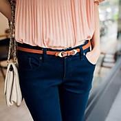 Mujer Casual Cinturón Slim Cinturón de Cintura,Marrón Rojo Verde Azul Rosa Un Color