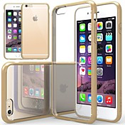 Funda Para Apple iPhone 6 Plus / iPhone 6 Antigolpes / Transparente Funda Trasera Un Color Suave Silicona para iPhone 6s Plus / iPhone 6s / iPhone 6 Plus