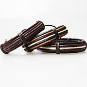 fra&x® vintage tibetansk håndlaget menns lær armbånd (1 stk, 3 farger) smykker gaver