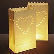 stort hjerte formet utsjkering papir papir lampe (sett av 4)