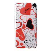 용 아이폰6케이스 / 아이폰6플러스 케이스 패턴 케이스 뒷면 커버 케이스 심장 소프트 TPU iPhone 6s Plus/6 Plus / iPhone 6s/6