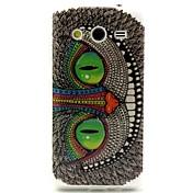 ojos verdes del modelo del búho del caso del diseño TPU durable para la galaxia core 2 g3556d