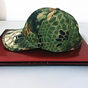pesca ESDY aire libre gorra de béisbol de camuflaje poliéster sombrero a prueba de viento parasol pitón verde