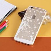 caso suave del árbol de navidad patrón TPU transparente para el iphone 6