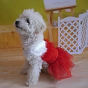 Vestidos para Perros Rojo Verano S / M / L / XL Algodón