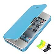 Para Funda iPhone 5 Flip Congelada Magnética Funda Cuerpo Entero Funda Un Color Dura Cuero Sintético para iPhone SE/5s iPhone 5