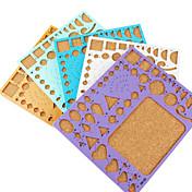 plantilla para la decoración quilling maquillaje papel de arte del arte de DIY (color al azar, 21x18cm)