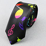 Unisex Todas las Temporadas Vintage Fiesta Trabajo Casual Poliéster Corbata Negro Pantalla de color