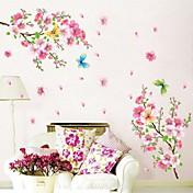 보태니컬 로맨스 정물화 패션 플로럴 벽 스티커 플레인 월스티커 데코레이티브 월 스티커 자료 이동가능 홈 장식 벽 데칼
