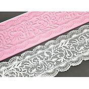 cuatro c decoración estera de encaje de silicona molde de pastel de encaje pad para hornear el pastel, la silicona colchoneta fondant