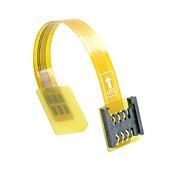 gsm CDMA-standarden uim sim-kort kit mann til kvinne forlengelse myk flat fpc kabelforlenger 10cm