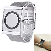 Hombre Reloj de Pulsera Reloj Casual Acero Inoxidable Banda Elegante / Reloj creativo único Plata