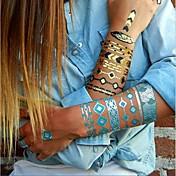 Tatuajes Adhesivos - Non Toxic/Hawaiian/Parte Lumbar/Waterproof - Series de Joya - Mujer/Hombre/Adulto/Juventud - Multicolor - Papel - 1 - 23*15*0.1