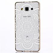삼성 갤럭시 A7 용 금속 프레임 전체 엠보싱 파리 흰색 꽃 패턴 하드 하드 케이스